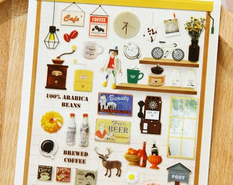 PVC Stickers (P164.27 - Cafe)