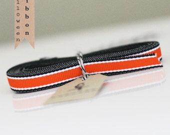 Orange with Black  Stripes Ribbon 4 yards
