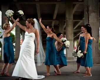 Custom Handmade Waltz Bridal Wedding Veil Starting at Only 31.99
