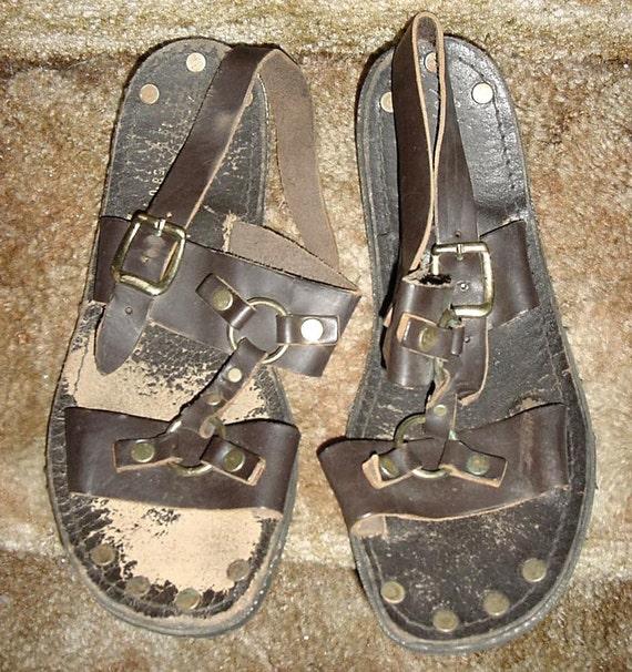 Unisex Water Buffalo Hippie Jesus Sandals #5401 ... |Hippie Mens Leather Sandals