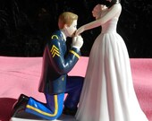 US Army  MILITARY soldier prince wedding cake topper KNEEL