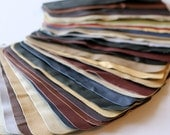 Set no 5 36 pcs Leather Samples  scraps Mixed Colors