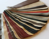 Set no7 36 pcs Leather Samples  scraps Mixed Colors