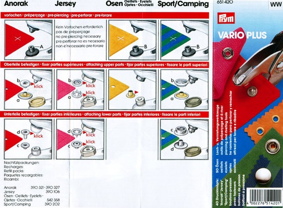prym color snaps instructions