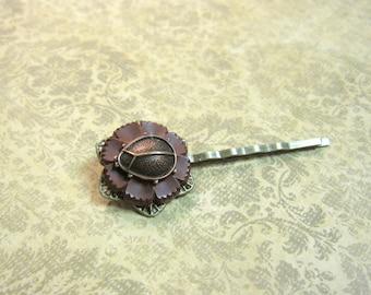 Ladybug Hair Pin, Ladybug Bobby Pin, Bug Hair Pin, Woodland Hair Pin, Woodland Bug, Button Hair Pin, Insect Bobby Pin, Ladybug, Bug, Nature