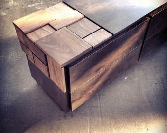 Abaci Walnut Dresser // 4 Drawer