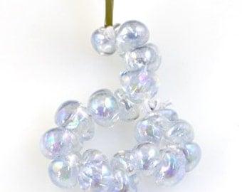 10 Luster Teardrop Handmade Lampwork Beads - Frozen Tears, 13mm (22255)