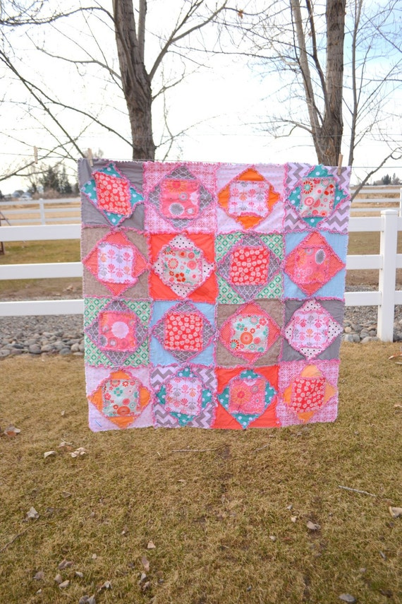 Square Dance Rag Quilt by A Vision to Remember