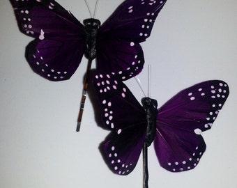 Purple butterfly,purple, butterfly, sale, bobby pin, boho