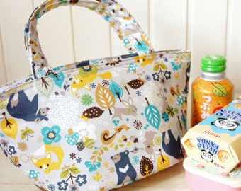 Insulated Lunch Bag - Japanese Cotton Fabric