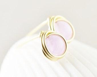 Amethyst Studs, Lavender Post Earrings, Purple Posts, Bridesmaid Gift