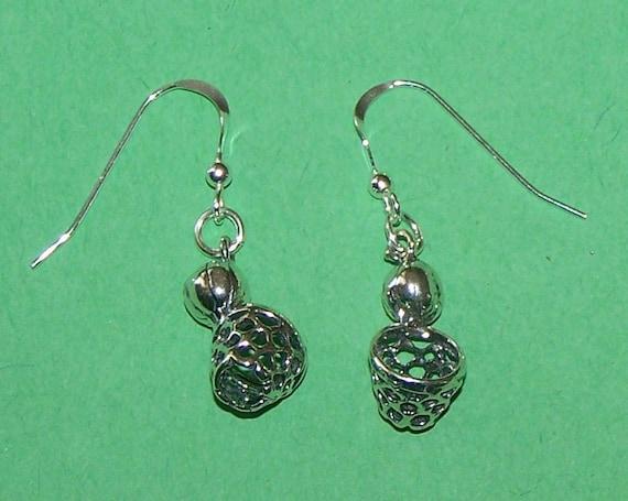 sterling silver 3d basketball hoop earrings sports
