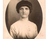 RPPC Young Woman with Interesting Hairdo