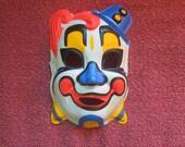 Vintage Plastic Halloween Clown Mask