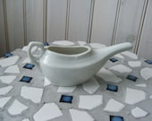 vintage white pottery pitcher feeding cup invalid feeder