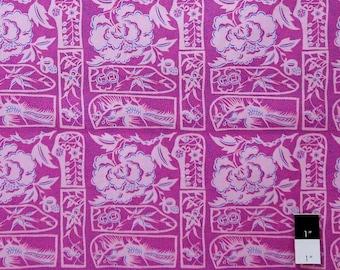 Melissa White PWMW009 Misaki Shanghai Cutouts Jaipur Cotton Fabric 1 Yard