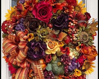 Fall Wreath, Fall Wreaths, Summer Wreaths, Autumn Wreath, Wreaths, Luxury Fall wreaths, Harvest Wreath,FREE USA Shipping this week!