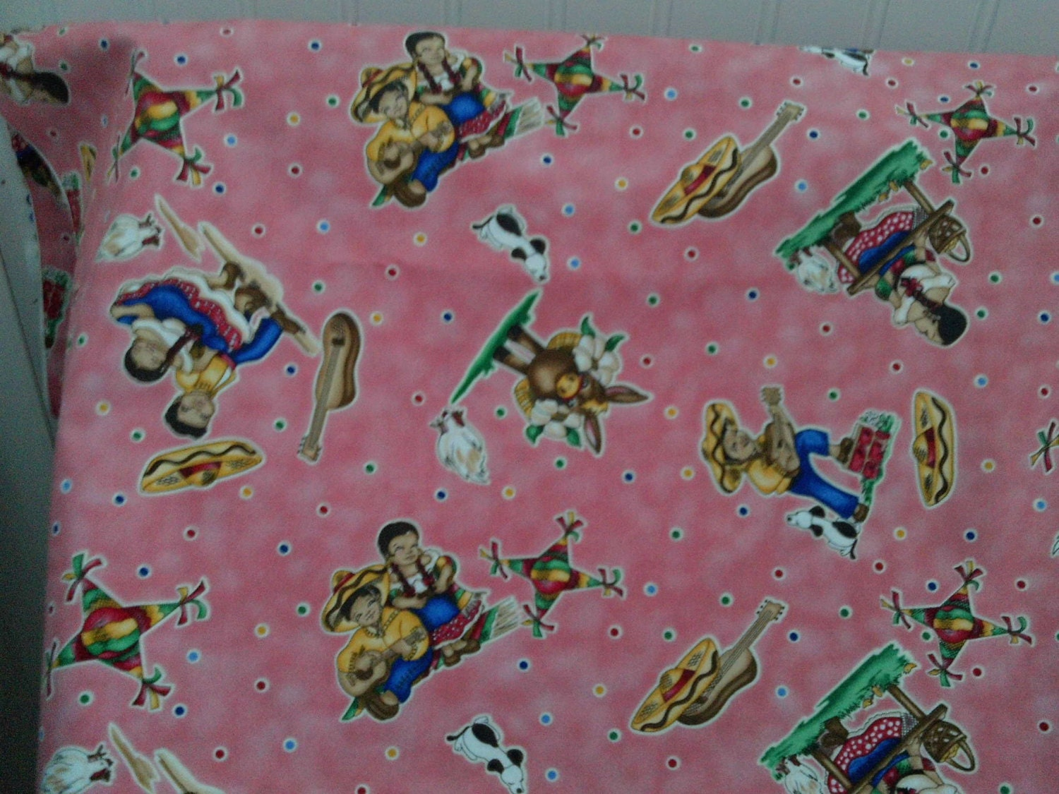 Childrens novelty quilt fabric mexican theme children on for Childrens quilt fabric