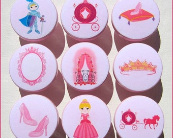 Princess Knobs • Fairy Princess Knobs • Princess Theme • Crown • Prince • Glass Slipper • Drawer Pulls • Drawer Knobs