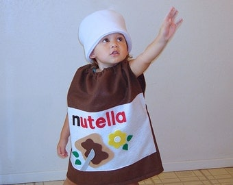 Kids Costume Nutella Halloween Costume Hazelnut Spread Photo Prop Funny Costume Dress Up
