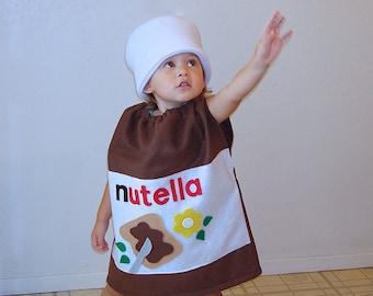 Kids Costume Nutella Halloween Costume Hazelnut Spread Photo Prop Funny Costume Dress Up Carnaval Carnival Karneval Purim Fancy Dress