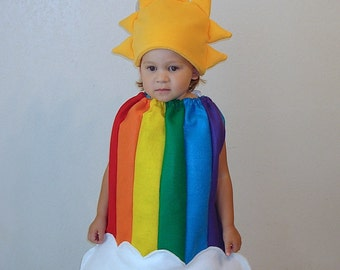 Kids Halloween Costume Childrens Costume Rainbow Sun Clouds Photography Prop Dress Up
