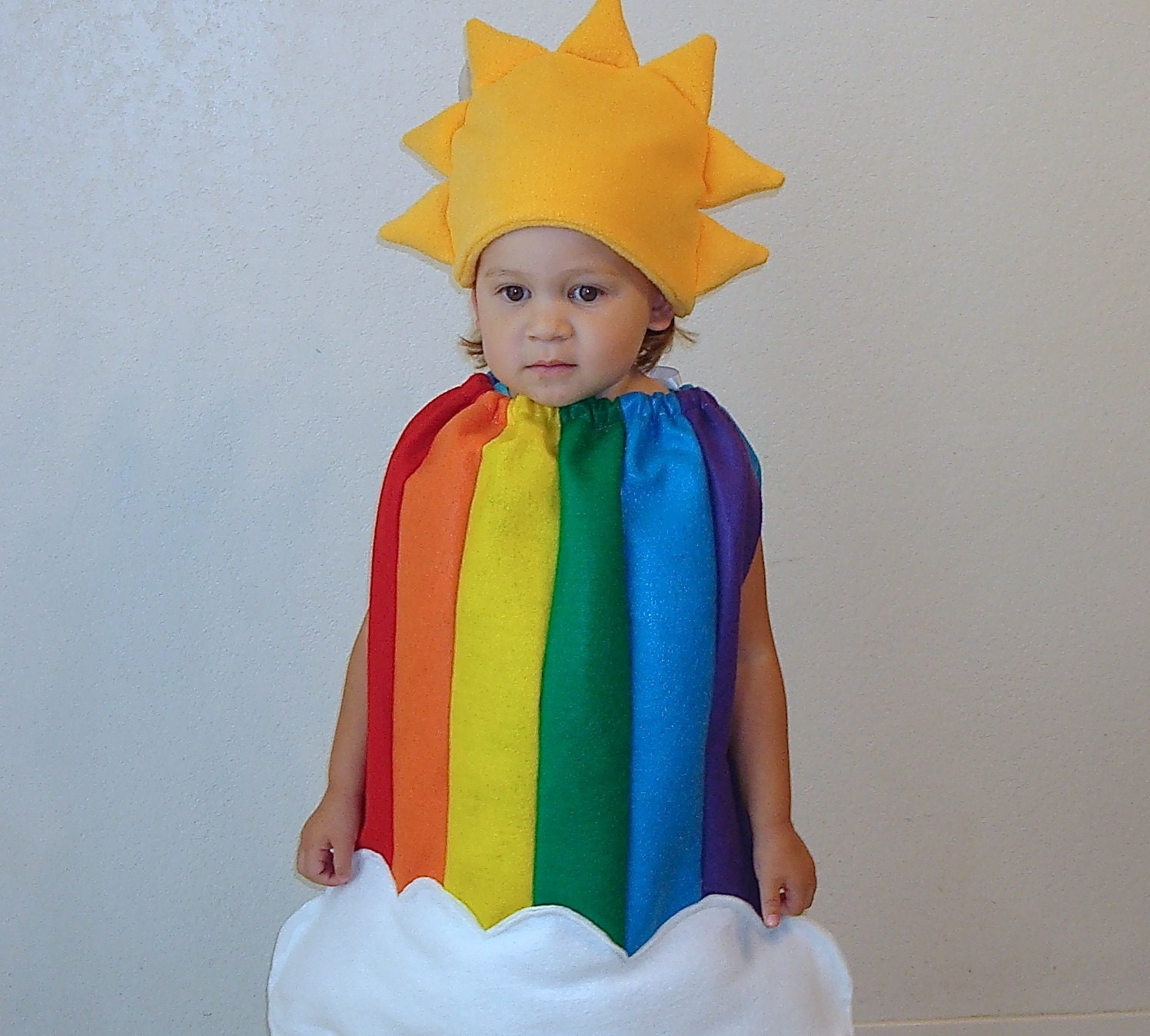 kids halloween costume childrens costume rainbow sun clouds. Black Bedroom Furniture Sets. Home Design Ideas