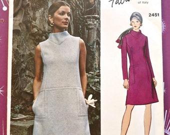Vintage 1970s Fabiani Dress Pattern - Vogue 2451