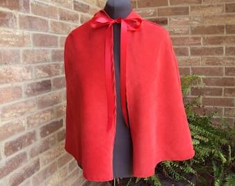 Lil Red Hooded cape size child 4, Halloween costume, renaissance, lil devil,