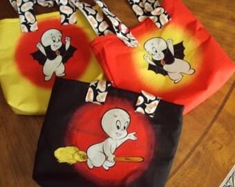 Casper the Friendly Ghost tote bag, trick or treat bag