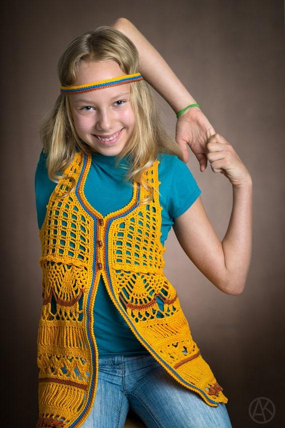 EAP CROCHET PATTERN Dryad Crocheted Vest eBook Crochet Pattern in Pdf for Sizes 2-12 Years