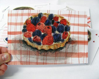 Pie postcard pack