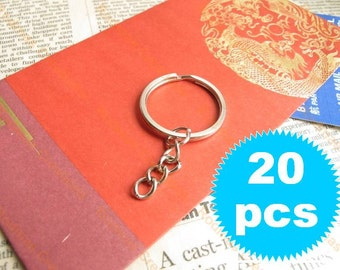Keychain with Split Ring - Silver - 20 pieces SK024
