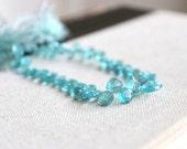 Apatite Gemstone Briolette Checkerboard Diamond Top Drilled 6mm 1/2 Strand 25 beads