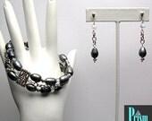 Freshwater Pearl and Crystal Bracelet Set