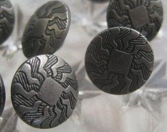 12 Buttons Metal Sunburst Buttons