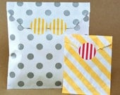 "Stripe Petite Stickys (128) 1"" Stickers with so many uses - Choose from 5 different Colors"