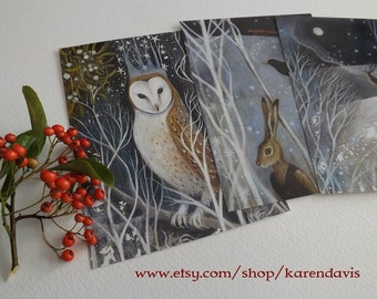 Winter Postcards With Envelopes