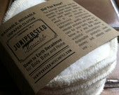 Organic Unbleached Hemp Sherpa Alternative to Disposable Facial Poufs - 12 Fleece Rounds Plus BONUS wash bag