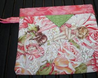 Flower Fairy Rose Pink Pouch Snap Bag