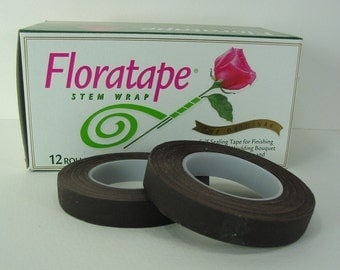 "Two Professional Florist Brown  Floral Tape 1/2""  30 Yards Wedding Corsages"