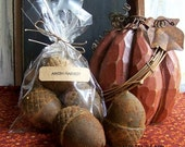 3 Large Primitive Acorn Melts-Hand poured-Scented-Fall,Harvest,Autumn,Holidays winter Christmas Bowl fillers -OFG TEAM