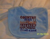 Country Boys Know How To Hunt & Bait A Hook bib