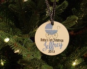 Personalized Baby's First Christmas Ornament - Boy