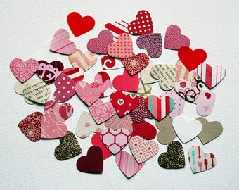 Heart Paper Punches - Set of 50