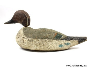 1920s Duck Decoy, Possibly Mason, Beautifully Detailed