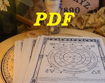 New GOETIA Index BOS Sheets PDF specialty pack -- 75 sheets -- Book of Shadows pages