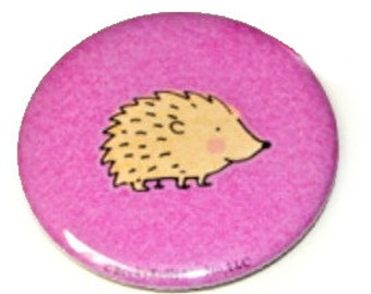 Purple Hedgehog, small pocket mirror
