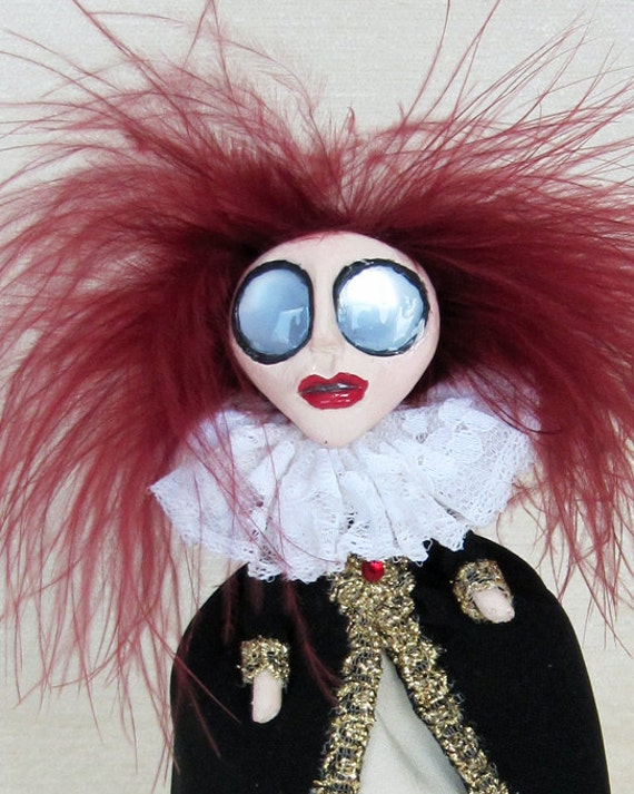 Reserved for Emsee - A Tudor Lady - Peg Doll Art Doll