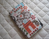 CUSTOM MADE to Order Checkbook cover or Coupon Organizer Paris in the Spring Eiffel Tower Cats Bicycle Trees